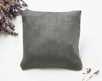 Lavender pillow grey