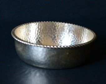 Vintage German Hammered Metal Bowl