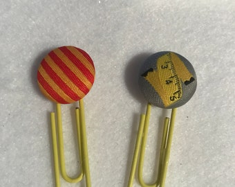 Measuring tape and lines planner clip set