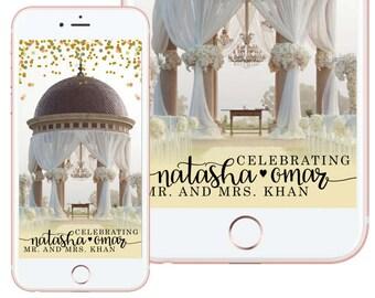 Elegant Love Custom Wedding Snapchat Filter
