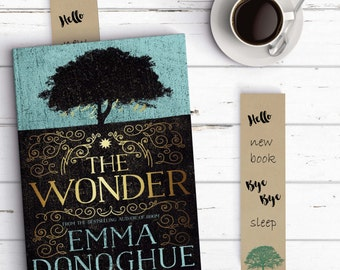 Rustic Tree Bookmark for more funny reading. Printable, digital file.   INSTANT DOWNLOAD
