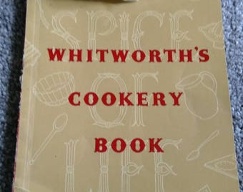 Vintage Whitworth's Cookery Book.