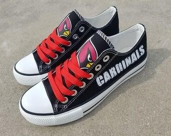 Arizona Cardinals shoes Cardinals sneakers Cardinals tennis shoes Holiday gifts Custom canvas shoes
