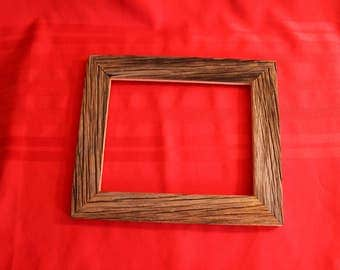 "Handcrafted barn wood 8""x10"" picture frame"