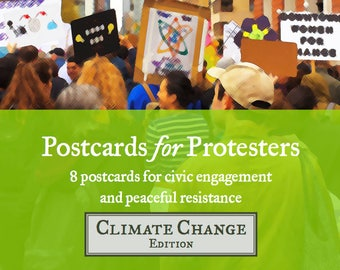 Postcards for Protesters - Climate Change Edition (8 Pack)
