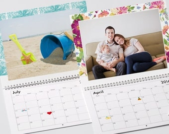 The 2017 Personalized Custom Printed Family Photo Calendar 12 Months Edition Many Colors & Styles to Choose From Call 281-203-9953