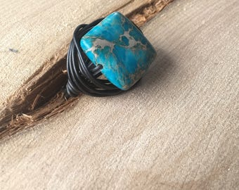 ring wire wrapping with authentic Jasper