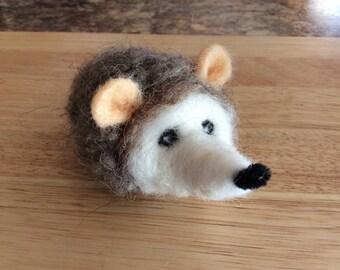 Handmade Needle Felted Hedgehog