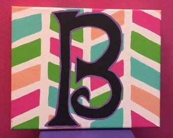 Letter B 8x10 canvas
