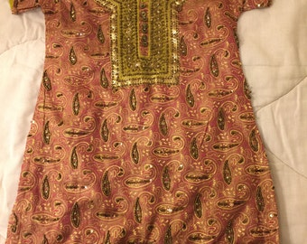 Vintage kids BoHo Hippie tunic size 26 made in India
