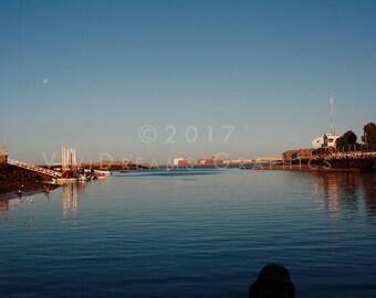 Sunrise over the harbor DIGITAL DOWNLOAD, printable download, instant download, harbor in Mexico, Puerto Penasco, Rocky Point Mexico
