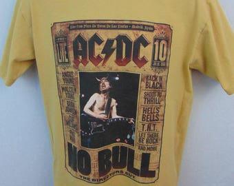 Vintage AC/DC Tshirt No Bull The Directors Cut July 10, 1996 Short Sleeve Mens Medium