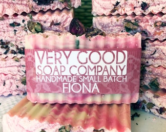 Fiona - English Rose Shea Butter Soap // Cold Process Soap // Handmade Soap