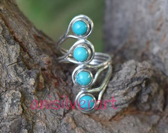 TURQUOISE RING, Turquoise Silver ring, Sterling silver ring, Gemstone Ring, Turquoise Stone  Silver Ring, 925 sterling silver