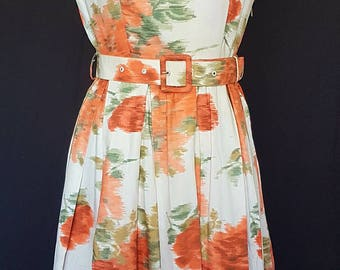 Original 1950s cotton summer dress