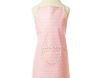 Pink apron, washable kids apron