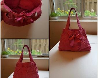 upcycled pink handbag