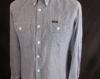 Shirt vintage Wrangler blue size M to-54%