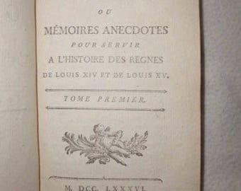 Gallery of the old Court 2 volumes of Louis XIX LOUIS XV 1786 1st edition