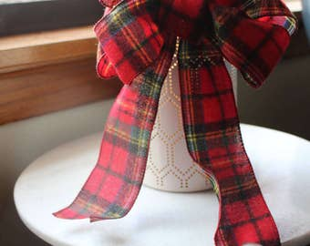 Red flannel bow