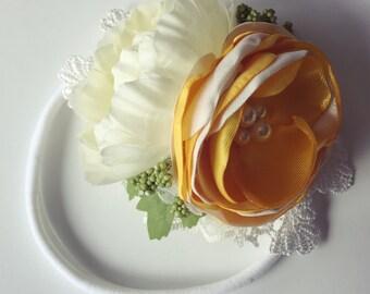 RTS Spring Floral Headband, flower headband, baby headband
