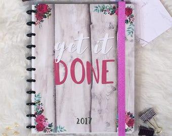 Get it Done FULL 2017 2018 Planner || Discbound || Agenda || Calendar || Basic It Girl