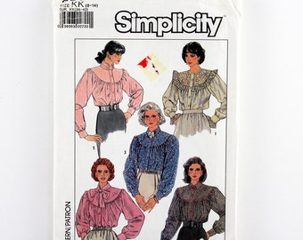 Vintage Simplicity Pattern 8301 Misses' Loose Fitting Blouse, Sizes 8, 10, 12, 14, Uncut Sewing Pattern