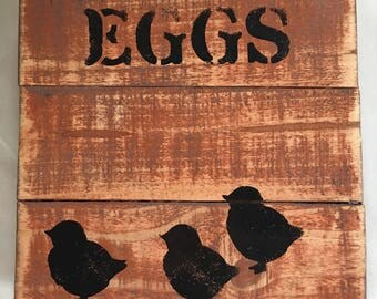 Eggs with chicks plaque
