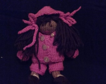 Kelly Kiwi - Knitted Doll