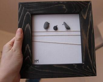 Pebble Bird Art - Nova Scotia Pebbles