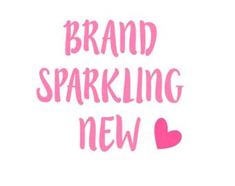 Brand Sparkling New SVG, newborn svg, baby svg, Cricut explore and cameo, Baby Infant svg, baby girl baby boy, heart svg, cutting file vinyl