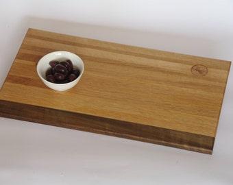 Recycled oak serving board - 50x28cm