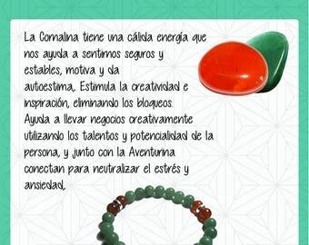 Green Aventurine bracelet and carnelian