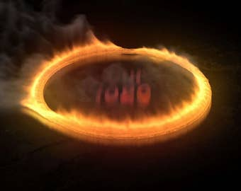 Video Intro or Outro, Fire circle logo