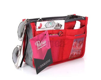 Periea Red Handbag Organiser - Size Small / Medium / Large | CHELSY
