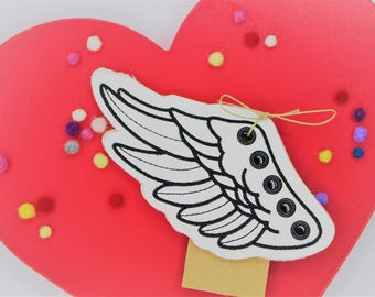 Flying Shoe Wings, super cool and fun shoes decorations, Wings for Shoe Laces, White Angel Wings for shoes laces, Lace-on Superhero wings.