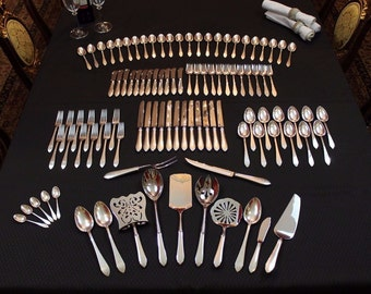 Tiffany Faneuil Sterling Silver Flatware Set Antique Vintage Silverware