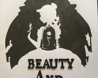 Beauty and the beast inspired art