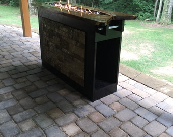 Fire and Glass Black Walnut Table