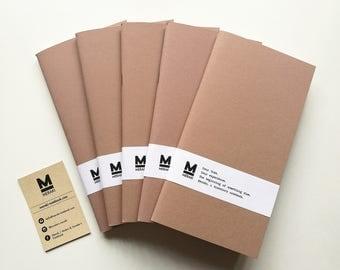 Sangiorgio Mandorla | TN Handmade paper Notebook, travelers planner, diary,Bullet Journal refill for Fauxdori Midori Traveler's Regular size