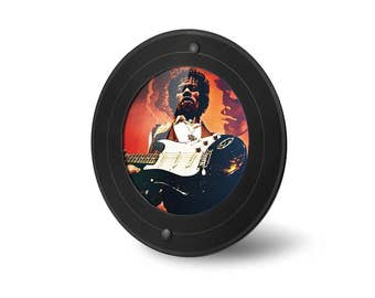 Round images frames from real vinyl record (7 inch Maxi and single) with round frame