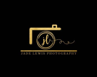 Premade logo, logo design, photography Logo, watermark, Camera logo, photographer, gold logo, logo with camera, black, branding,