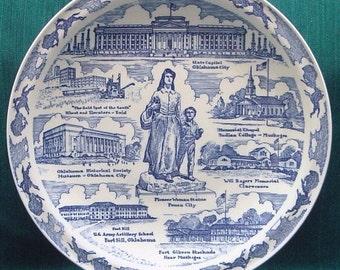 Oklahoma State Plate from Vernon Kilns