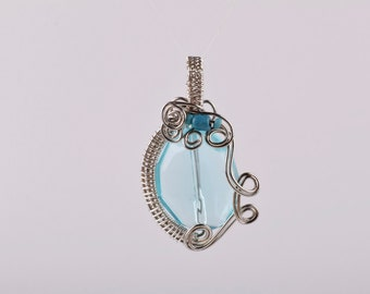 Wire Wrapped Resin Pendant