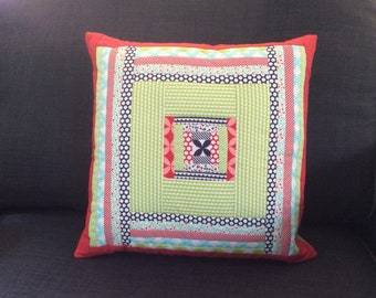 Patchwork / quilted cushion / pillow one from set of three