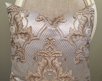 """Cream Giovani 20""""x20"""" Pillow Cover"""