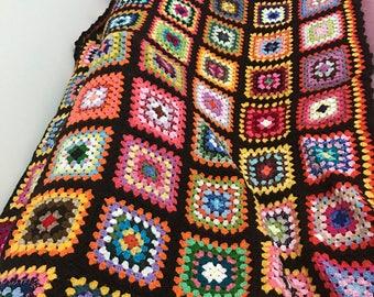 Handmade rainbow blanket