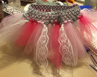 Pink and Grey Lace Tutu