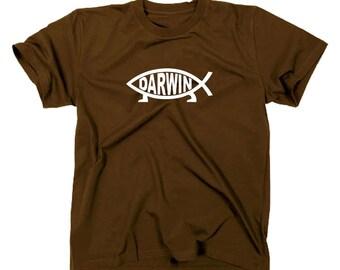 Darwin Fisch evolution T-Shirt