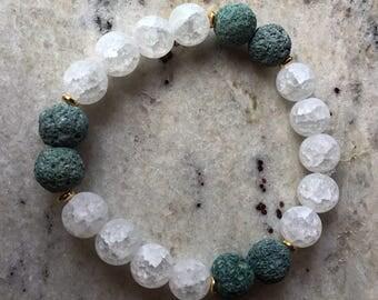 Sea foam green diffuser bracelet